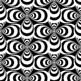 Vector black and white abstract crosses seamless pattern Royalty Free Stock Photography