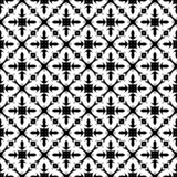 Vector Black and white abstract geomatrical floral design, seamless pattern or design vector illustration