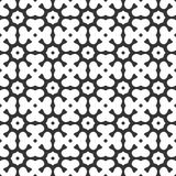 Vector Black and white abstract octagon and clover leaves seamless pattern or illustration stock illustration