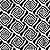 Vector black and white abstract seamless pattern Royalty Free Stock Photos