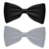 Vector black and white bow-tie isolated Royalty Free Stock Photography