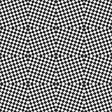 Vector black and white checkered seamless pattern. Optical art texture. Vector black and white checkered seamless pattern. Small staggered squares, repeat tiles Royalty Free Stock Images