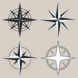 Vector black and white compass Royalty Free Stock Photo
