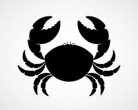 Vector black and white crab silhouette Stock Image