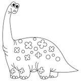 Vector Cute Cartoon Dinosaur. Dinosaur Vector Illustration Stock Image