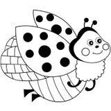 Vector Cute Cartoon Ladybug Flying Stock Photo