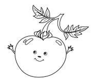 Vector Cartoon Tomato with Smiley Face Stock Photos