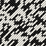 Vector Black White Diagonal Lines Geometric Seamless Pattern Royalty Free Stock Photography