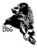 Vector black and white dog Stock Images