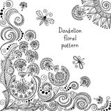 Vector black and white floral pattern Royalty Free Stock Images
