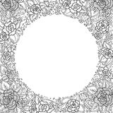Vector black and white floral pattern Stock Photography