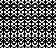 Vector black and white floral seamless pattern. Background Stock Image
