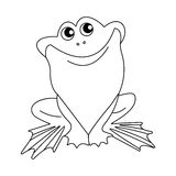 Vector Black and White Frog Stock Photo
