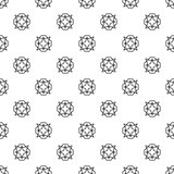 Vector black and white geometric pattern with crystals Royalty Free Stock Images