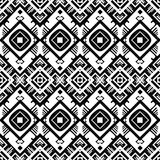 Vector black and white geometric seamless pattern Stock Photography