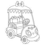 Vector Golf Buggy. Vector Golf Car. Vector black and white golf buggy. Vector golf car. Golf buggy vector illustration Stock Photos