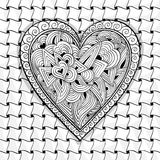 Vector black and white heart pattern Stock Images