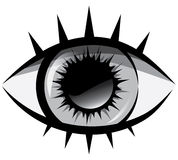 Vector black and white illustration. The human eye Royalty Free Stock Photos