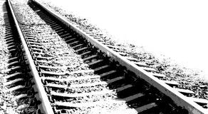 Vector black-and-white illustration Railway Royalty Free Stock Photo