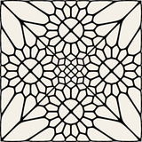 Vector Black And White Mandala Lace Ornament Mosaic Stock Image