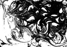 Vector black and white marbled abstract background. Liquid pattern. Grunge texture. Stock Images