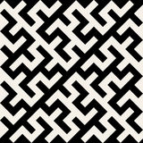 Vector Black and White Maze Ornament Seamless Pattern Royalty Free Stock Images