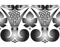 Vector black and white pattern. Black and white vector pattern Royalty Free Stock Images
