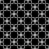 Vector Black White seamless retro abstract pattern Royalty Free Stock Photo