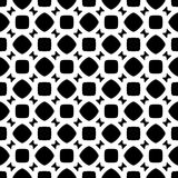 Vector Black White seamless retro abstract pattern Royalty Free Stock Image