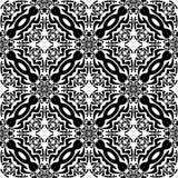 Vector BLACK WHITE PATTERN DESIGN GEOMETRIC Stock Image