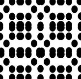 Vector BLACK WHITE PATTERN DOTS Royalty Free Stock Image