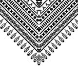 Vector black and white pattern Stock Images