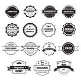 Vector Black and White Retro Stamps and Badges Stock Image