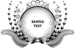Vector black and white rosette Royalty Free Stock Photo