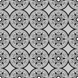 Vector black and white round seamless pattern stock images