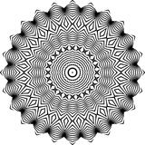 Vector Black and white rounded pattern background, vector illustration royalty free stock photography