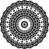 Vector Black and white rounded pattern background, vector illustration Stock Photo