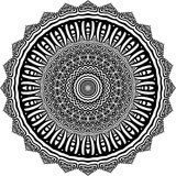 Vector Black and white rounded pattern background, vector illustration royalty free stock images