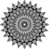 Vector Black and white rounded pattern background, vector illustration royalty free stock photos