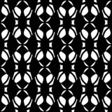 Vector Black and white seamless abstract geometric and free style shape pattern royalty free illustration