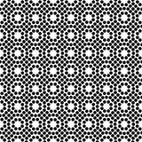 Vector black and white seamless floral polka dot pattern design stock photo