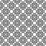 Vector black and white seamless floral polka dot pattern design Stock Photography