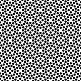 Vector black and white seamless floral polka dot pattern design Royalty Free Stock Photos
