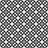 Vector black and white seamless floral polka dot pattern design Stock Images