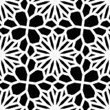 Vector Black & White Seamless Geometric Square Lace Grid Pattern Stock Images