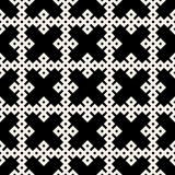 Vector Black & White Seamless Geometric Square Rhombus Grid Ethnic Pattern Stock Photo