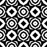 Vector black and white seamless octagon and rhombus pattern,simple abstract design. Geometrical pattern rhombus and octagon, simple artistic illustration for royalty free illustration