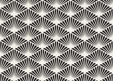 Vector Black And White Seamless Organic Floral Sunburst Lines Grid Geometric Pattern Royalty Free Stock Photos