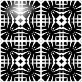 Vector BLACK WHITE SEAMLESS PATTERN DESIGN. Black and white Seamless Repeating Vector Pattern. Elegant Design in Baroque Style Background Texture. Black and Royalty Free Stock Photos