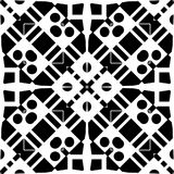 Vector BLACK WHITE SEAMLESS PATTERN DESIGN. Black and white Seamless Repeating Vector Pattern. Elegant Design in Baroque Style Background Texture. Black and Stock Images